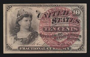 US 10c Fractional Currency 4th Issue FR 1259 Ch CU (-004)