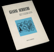Gianni Schicchi livret seul Forzano opéra Puccini 1959