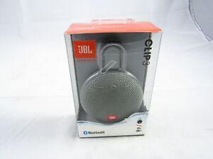 JBL Clip 3 Portable Waterproof Wireless Bluetooth Speaker Gray LN
