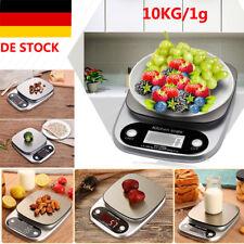 10KG/1g Digital Küchenwaage Digitalwaage Edelstahl Waage Feinwaage Briefwaage DE