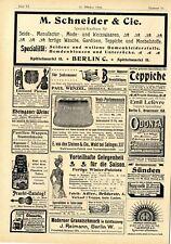 M. Schneider Spezial- Kaufhaus Berlin C. Fischleim Kronen-Chocolade Uhren...1899