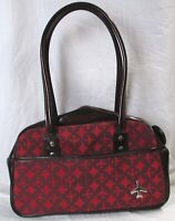 Loop NYC Transversion Airplane Handbag Carry On Tote Travel Bag Red FREE SHIPPNG