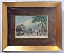 Framed Witham Essex Colored Engraving Antique Art Print GB Campion W Watkins