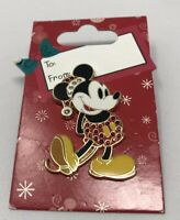 Disney Christmas Holiday Classic Santa Mickey Mouse PIN 2006 Jeweled