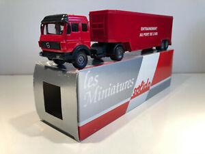 1/60 Solido Camion semi-remorque Miniature MERCEDES Pompiers