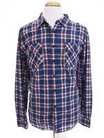 Jachs New York Classic Fit Mens Button Down Front Shirt Plaid Blue Red Sz XL