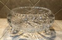 """Vintage Footed Cut Glass/ Crystal Bowl 8"""" Diameter Very Heavy!"""