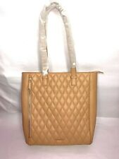 BRAND NEW VERA BRADLEY QUILTED TOTE NUDE LEATHER ZIP TOP LARGE HANDBAG