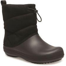 Crocs Womens Crocband Puff Boot Black