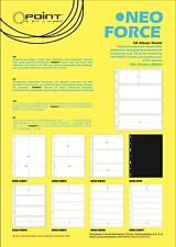 Stamp Album Stock Pages.10 sheets. Clear, 4 Strips per page.195x62mm