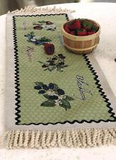 Berry Sweet ~ Strawberry/Blackberry/Raspberry/Blueberry Tapestry Table Runner