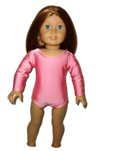 """French Rose Leotard 18"""" doll clothes fit American Girl Dance Ballet Gymnastics"""
