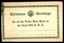 APO 727 DEC 12 1910s FREE FRANKED CARD TO GRAND RAPIDS MICHIGAN USA