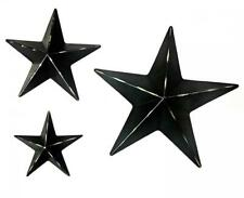 Bellaa 24131 Stars Wall Decoration Metal Art Mounted 3pcs Set Black,...