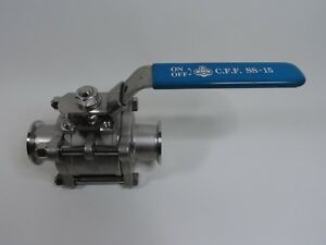 HAITIMA Stainless Steel Sanitary 1 1/4 inch Ball Valve C.F.F. SS-15 Tri Clamp