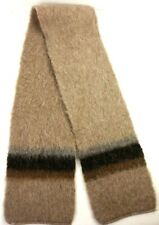 Stobi Denmark Wool Scarf Spelsau Knitfleece Tan Brown Warm Winter Cold Weather