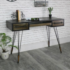 Bureaux et tables d'ordinateur en métal avec étagères pour la maison