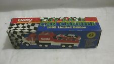 Getty Race Car Carrier Truck With Lights & Sound Limited Edition 1995 NEW dc1531