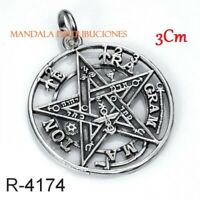 PENDANT TETRAGRAMMATON AND STAFF SILVER STERLING 925 ML SILVER SPECIAL HANGING