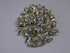 Diamante Silver Vintage Costume Brooches/Pins