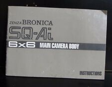 Zenza Bronica SQ-Ai 6x6 Camera Body User Manual Owner Guide 49 pages English