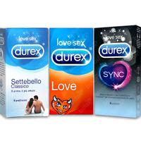 18 Preservativi DUREX MIX SETTEBELLO CLASSICO SYNC LOVE Ritardanti Stimolanti CE