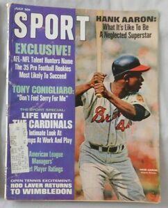 July 1968 SPORT Magazine Hank Aaron Atlanta Braves vg/ex