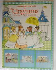 Vintage Whitman Ginghams paper dolls Playbook 1980 uncut/unused/Xmas/School/ Bed+