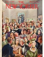 1944 New Yorker January 22 - Art Gallery grand opening - just don't look at art.