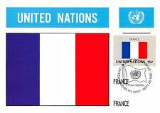 Card Maximum FDC United Nations Flag France Edit 1980