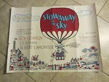 Stowaway In The Sky movie poster - Jack Lemmon - original uk quad