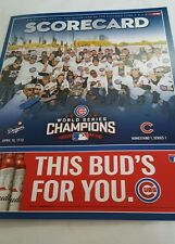 Chicago Cubs 2017 Opening Day Scorecard World Series team cover Kyle Schwarber