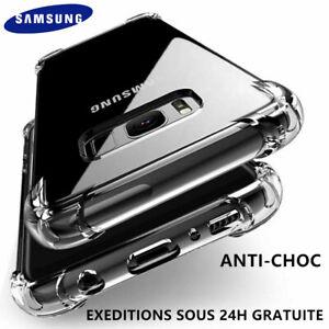 COQUE SILICONE ANTICHOC SAMSUNG S8 S9 S10 s20 A02s A10 A20e A40 50 A21s A41 A51