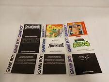 Lot of 9 Nintendo Gameboy Instruction Manuals - Solar Striker TMNT Castlevania