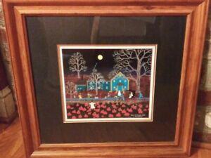 """Jane Wooster Scott """"Beyond the Pumpkin Patch""""  Fine Art Print COA Halloween"""