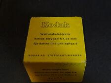 Kodak Retina-Eurygon f:4/35 mm for Retina IIIs/R  Reflex S excellent! boxed