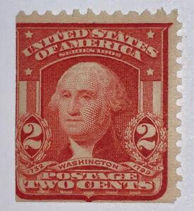 Travelstamps: 1903 US Stamps Scott #319g, 2 Cent Washington, Mint Og, Hinged