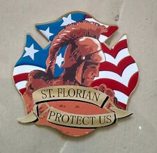"St Saint Florian Patron Saint of Firefighters Decal (4"")"