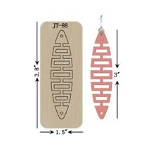 Leather  Earring Cutting  Die / Sizzix Compatible - JT88