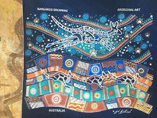 "Danny Eastwood Aboriginal Art KANGAROO DREAMING Canvas Screen Print 10"" x 8.5"""