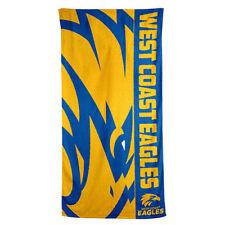 West Coast Eagles AFL Footy Bath Beach Gym Towel 150cm X 75cm