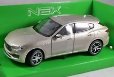 2016 MASERATI LEVANTE in Gold 1/24 scale model by WELLY
