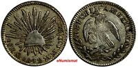 MEXICO FIRST REPUBLIC Silver 1842 Mo MM 1/2 Real  Mexico City Mint KM# 370.9