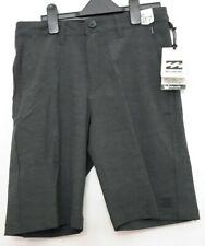 "Billabong Boys Shorts Gray 27"" Flat-Front Stretch Woven Crossfire x bnwt"