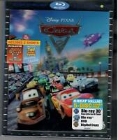 Cars 2 (5-Disc Blu-ray 3D/2D/DVD + Digital Set) with Lenticular Slipcover RE