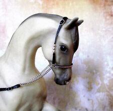 Silver Plate Beaded Arabian Show Halter for 1:9 (Breyer Traditional) Model Horse