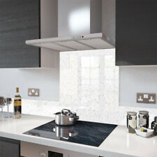 Premier Range White Cosmos Glass Splashback - 70cm Wide x 70cm High