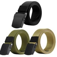 Mens Military Belt Canvas Adjustable Outdoor Tactical Belt with Plastic Buckle
