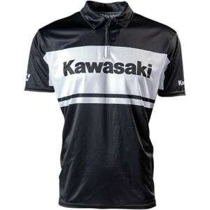 Factory Effex Kawasaki Team Pit Shirt (Black) Choose Size