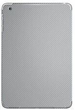 Silver Carbon Fibre Vinyl Back Sticker Wrap for iPad Mini 2 & 1